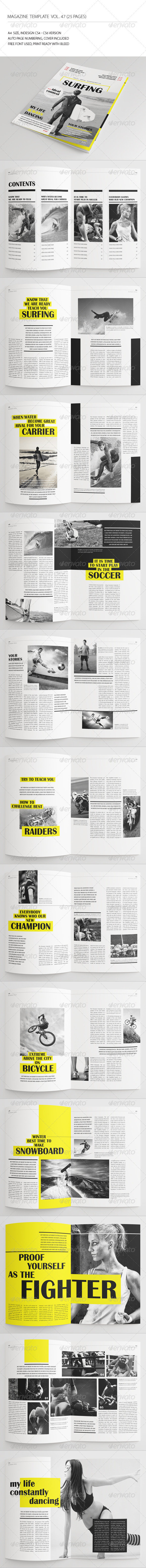 GraphicRiver 25 Pages Sport Magazine Vol47 7548550