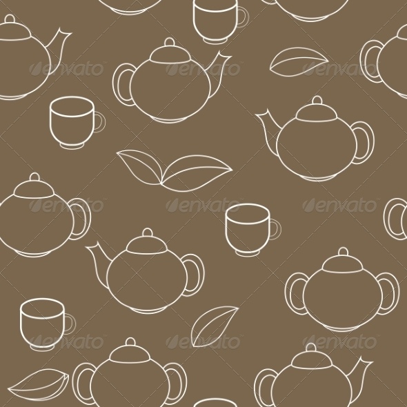 GraphicRiver Tea Seamless Pattern Background 7549256