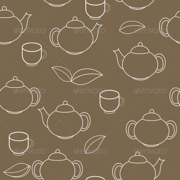 GraphicRiver Tea Seamless Pattern Background 7549256