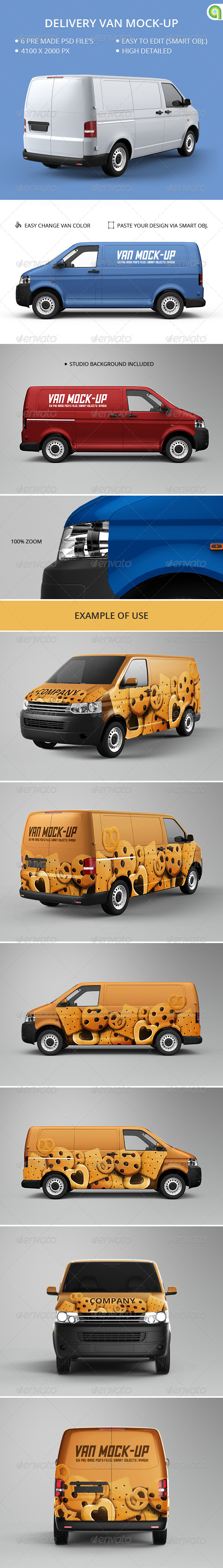 GraphicRiver Van Mock-Up 7549463