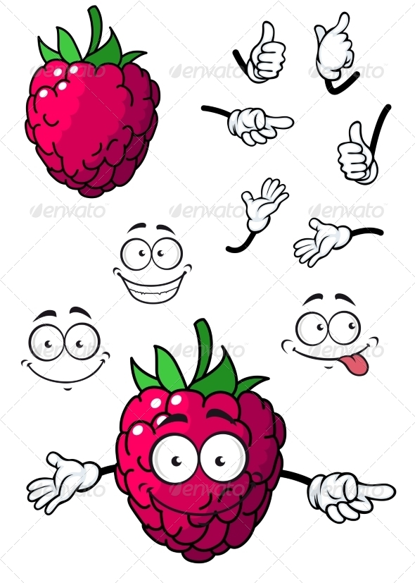 GraphicRiver Cartoon Raspberry 7549547