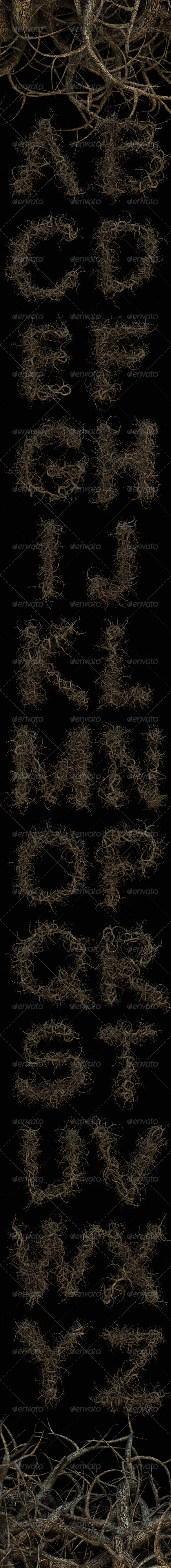 GraphicRiver Roots Tree Alphabet 7549576
