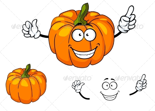 GraphicRiver Colorful Orange Cartoon Pumpkin 7549637