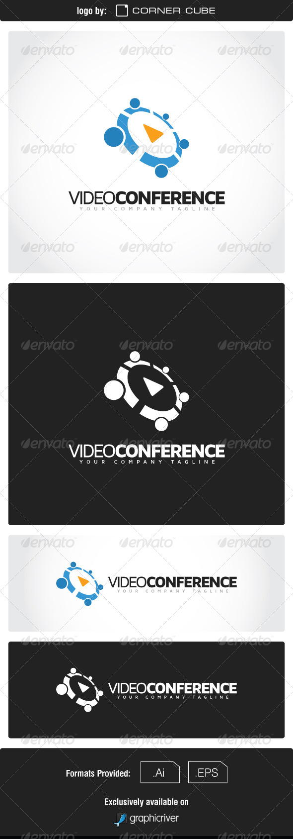 GraphicRiver Video Conference Logo 7550348