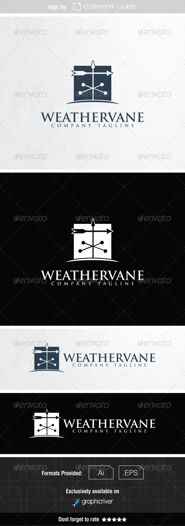 GraphicRiver Weathervane Logo 7550492