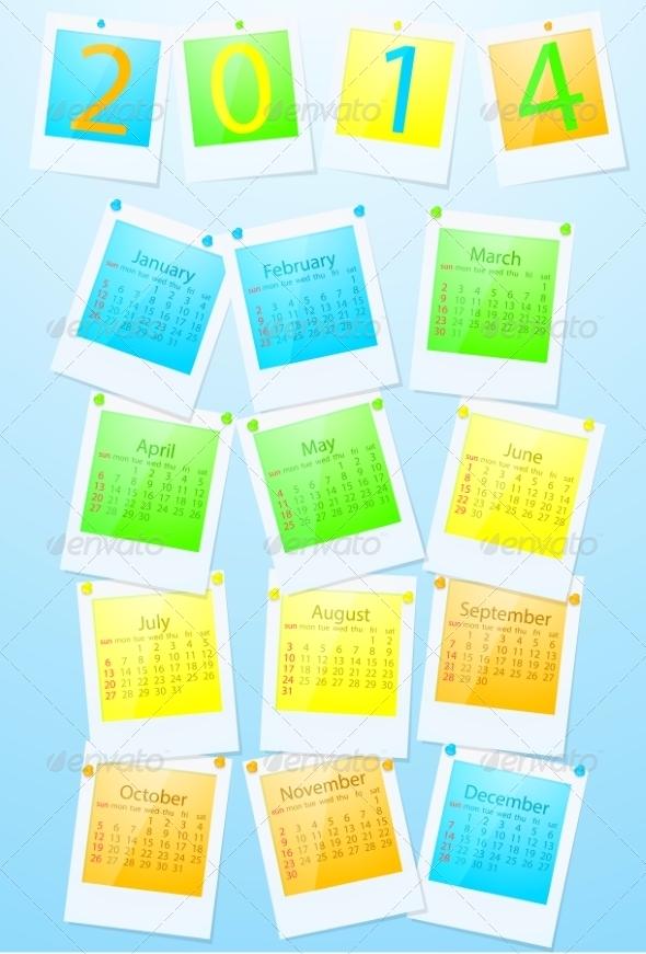 GraphicRiver Colorful Calendar 2014 7550522