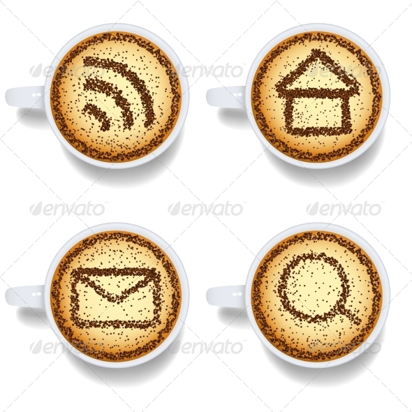 GraphicRiver Cappuccino with Web Icons 7550555