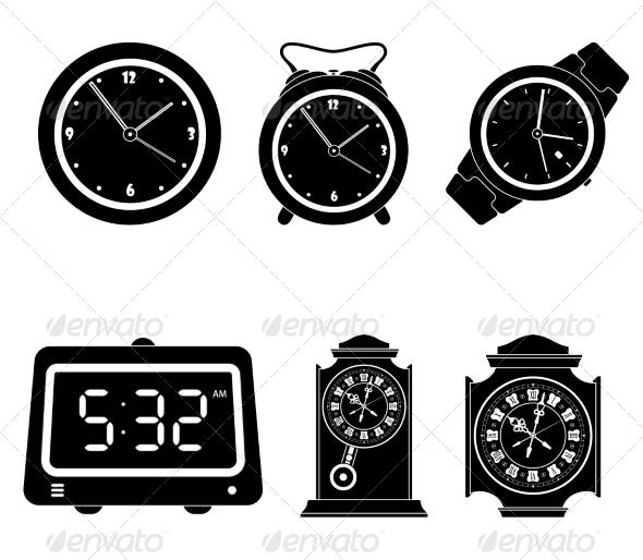GraphicRiver Set of Clock Icons 7550928