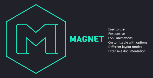 CodeCanyon Magnet jQuery plugin for filterable layouts 7550966