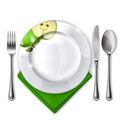 Plate with spoon, knife and fork - PhotoDune Item for Sale