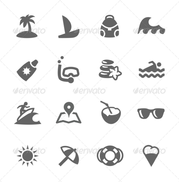 GraphicRiver Sea Travel Icons 7552998
