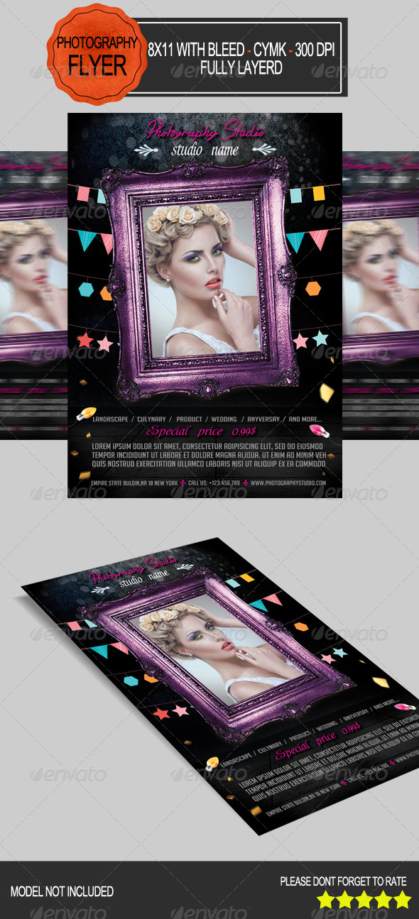 GraphicRiver Photography Studio Flyer 7554042