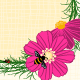 Springtime Cosmos Flower with Bees Background - GraphicRiver Item for Sale