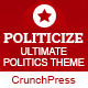 Politicize - Political Responsive HTML5 Template - ThemeForest Item for Sale
