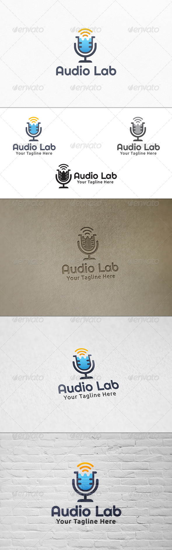 GraphicRiver Audio Lab Logo Template 7555201