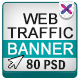 Web Traffic Banners - 5 Colours - GraphicRiver Item for Sale