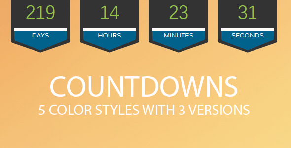 CodeCanyon 5 Color Styles With 3 Versions Of Countdowns 7556481