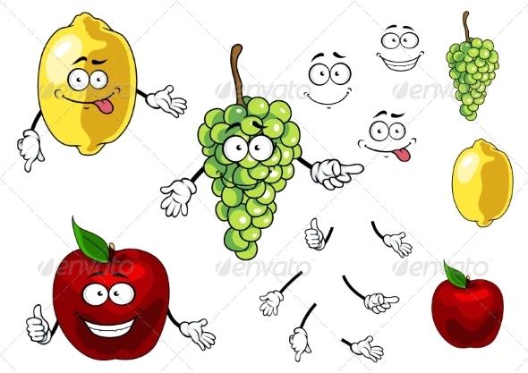 GraphicRiver Fruit Cartoons 7557125