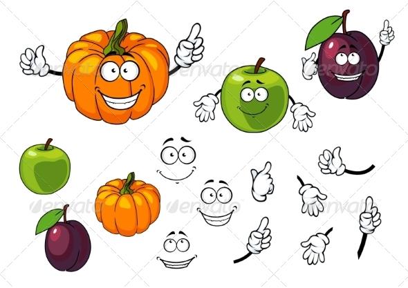 GraphicRiver Fruit Cartoons 7557129