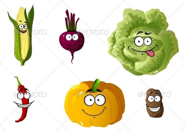 GraphicRiver Vegetable Cartoons 7557275