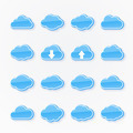 blue cloud icons of different shapes - PhotoDune Item for Sale