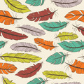 Seamless pattern of colorful feathers - PhotoDune Item for Sale