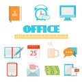 Flat office icon set - PhotoDune Item for Sale