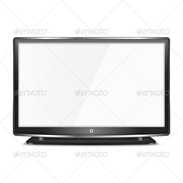 GraphicRiver Black LCD TV 7558808
