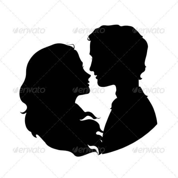 GraphicRiver Couple Silhouettes 7559308