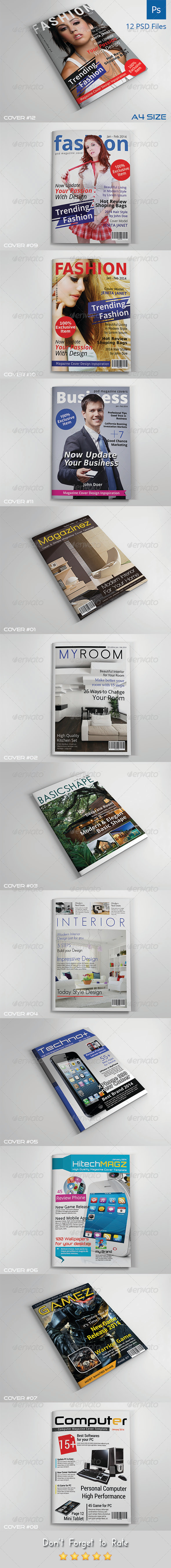 GraphicRiver Magazine Cover Templates Vol.2 7541664