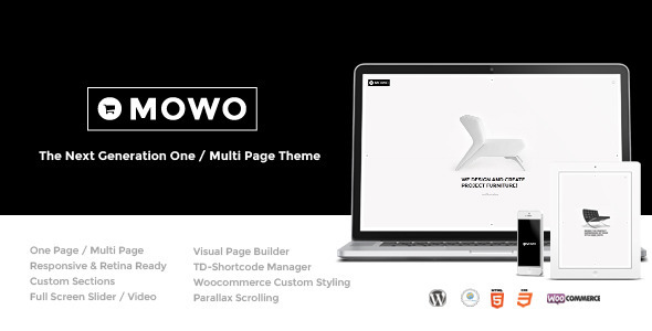 ThemeForest MoWo The Next Generation One Multi Page WP Theme 7472764