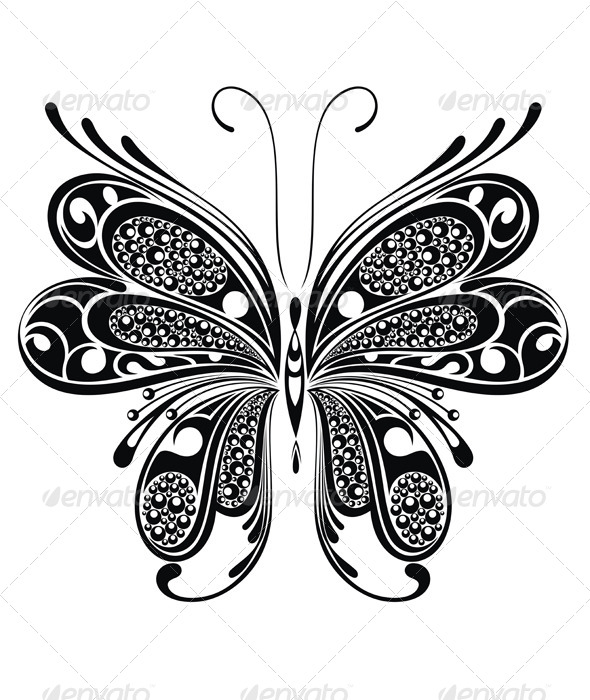 GraphicRiver Black Butterfly 7559919