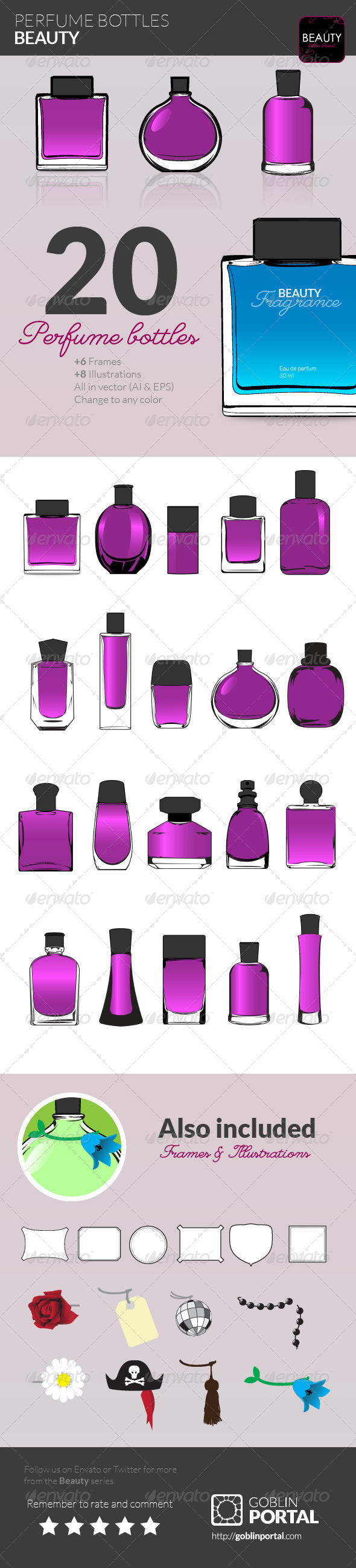 GraphicRiver Perfume Bottles 7499679