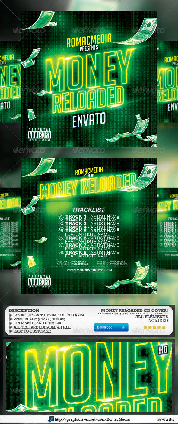 GraphicRiver Money Reloaded CD Cover 7561644