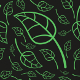 Effective Green Leaves Seamless Pattern - GraphicRiver Item for Sale