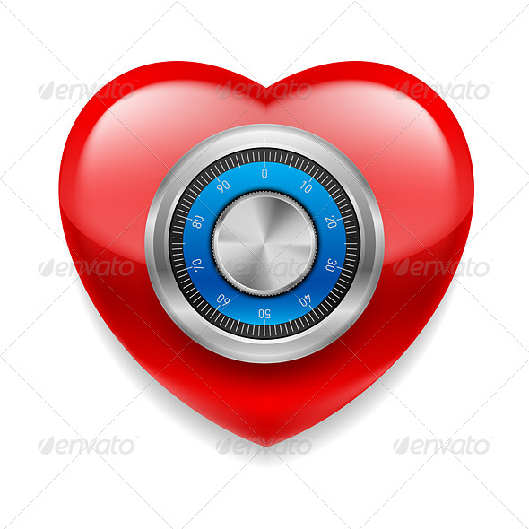 GraphicRiver Red Safe Heart 7561860