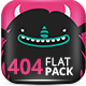 404 Pack Flat Style - GraphicRiver Item for Sale
