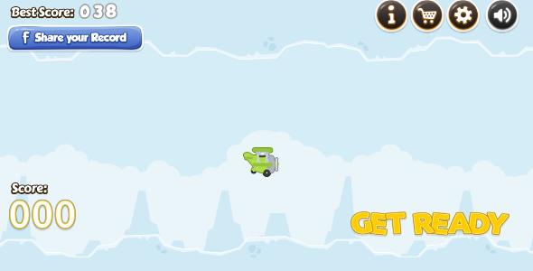 CodeCanyon Flappy Pilot HD Endless Game 7562573