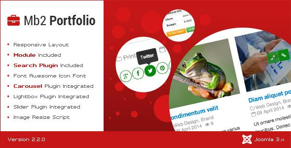 CodeCanyon Mb2 Portfolio Joomla Portfolio Component 7480197