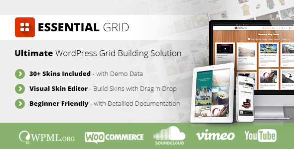 CodeCanyon Essential Grid WordPress Plugin 7563340