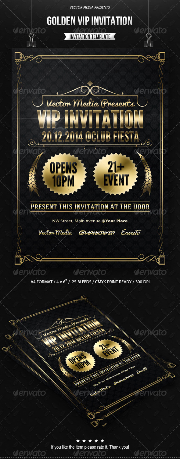 GraphicRiver Golden VIP Invitation 7563375