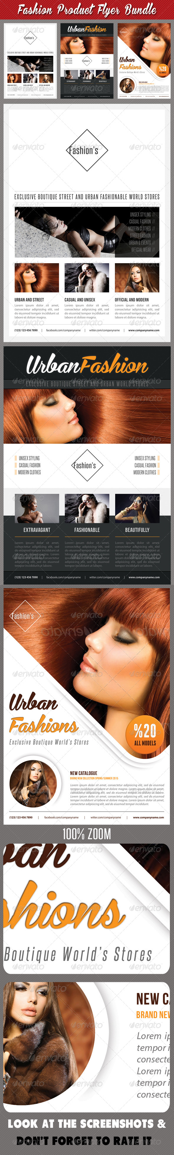 GraphicRiver 3 in 1 Fashion Product Flyer Bundle 18 7563447