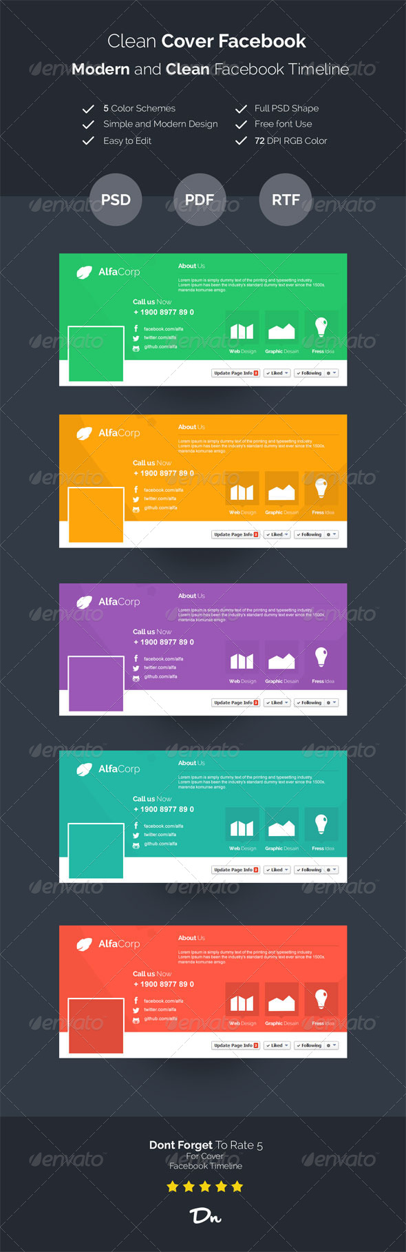 GraphicRiver Modern Cover FacebookTimeline 7437212