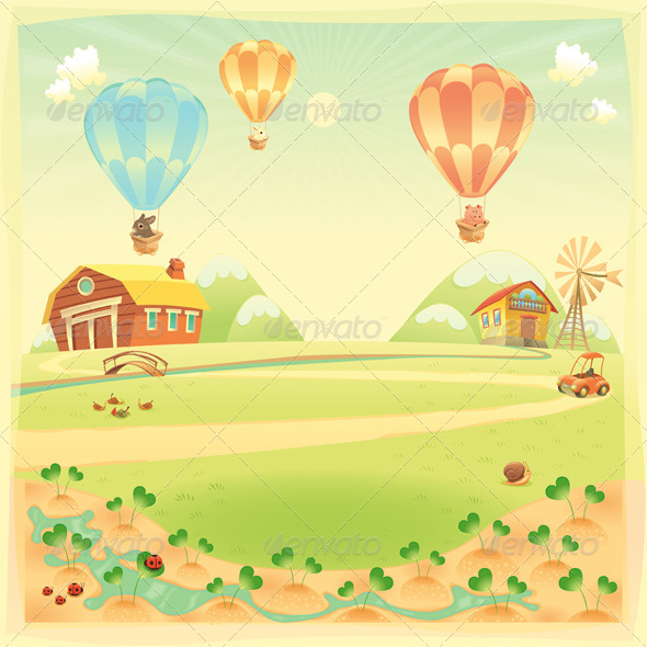 GraphicRiver Farm Background 7563753
