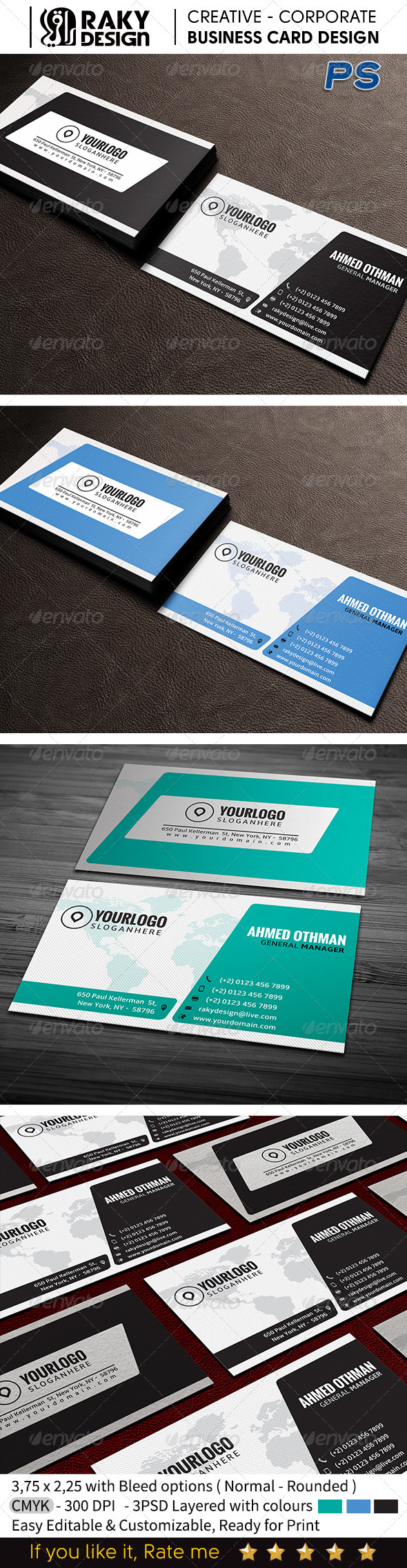 GraphicRiver Corporate Business Card V13 7563771