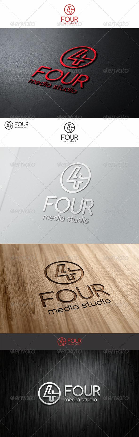 GraphicRiver Four Logo Number 7564218