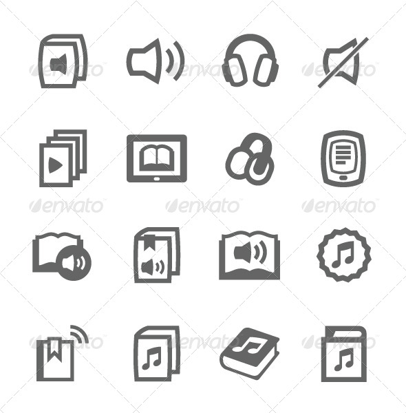 GraphicRiver Audio books icons 7564398