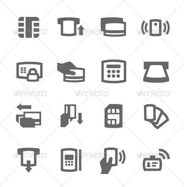 GraphicRiver Cards Icons 7564623