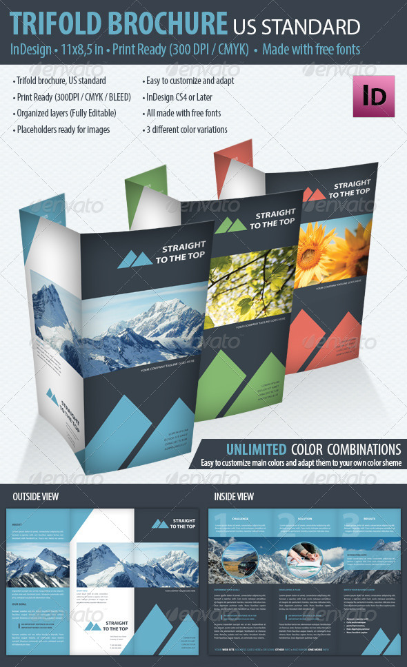 GraphicRiver Trifold Brochure US Standard 7563354