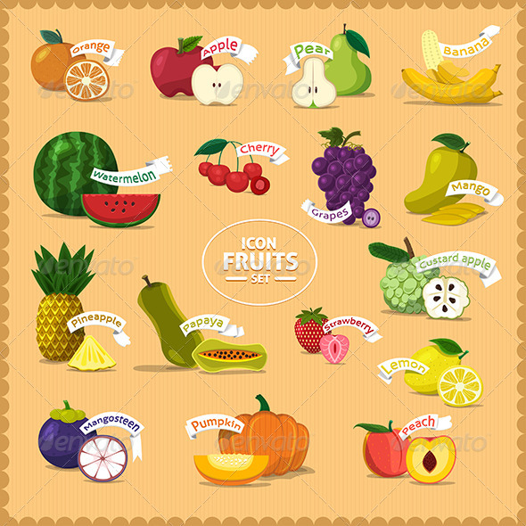 GraphicRiver Illustrate of Fruits 7530803